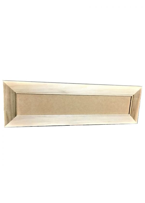 Poplar Wood with Recessed MDF Panel Drawer Front 29.5 x 9