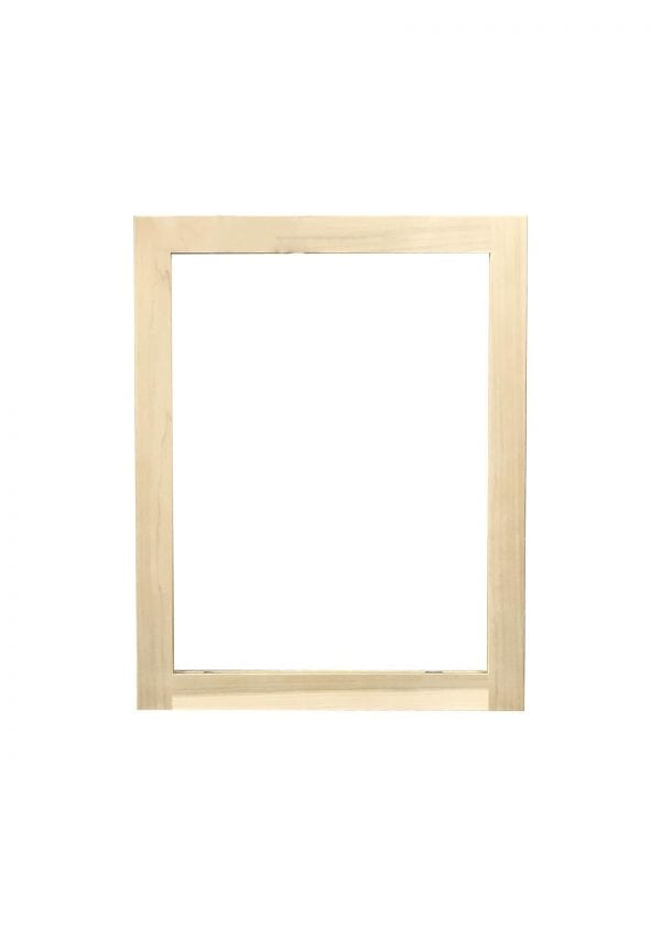 Poplar Wood Cabinet Door with Glass Cut Out