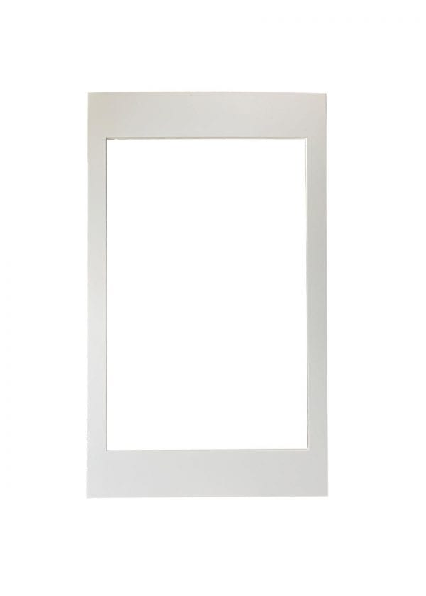 Solid Wood Cabinet Door with Glass Cut Out in White