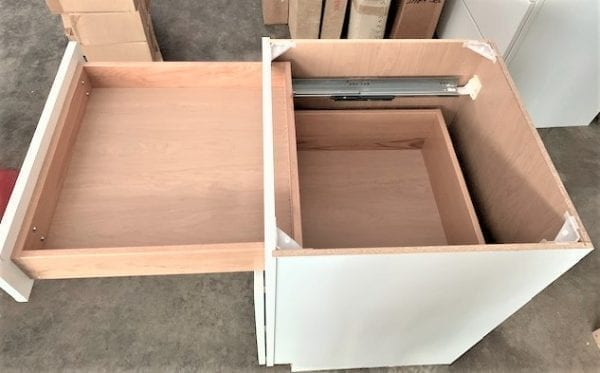 Three Drawer Cabinet Unit in White