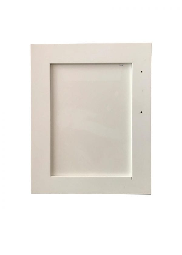 White Finish Cabinet Door with Recessed Panel