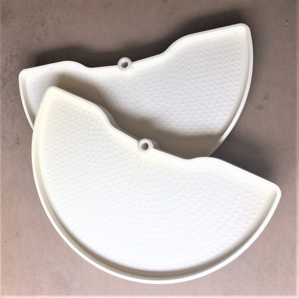 Ninka Half Trays in Creamy White