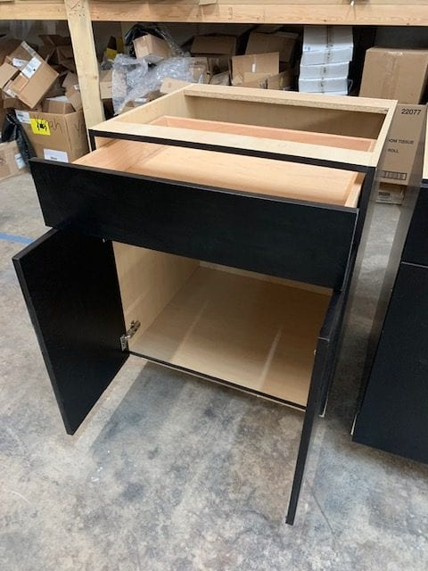 Base Cabinet Unit in Black Finish