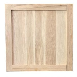 "White Oak Cabinet Door Square Unfinished 25 3/4"" x 25 3/4"""
