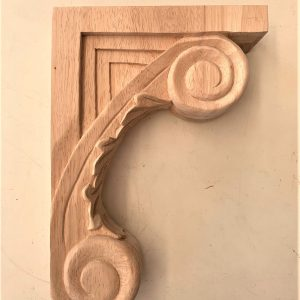 Scroll Leaf Maple Corbel 13""