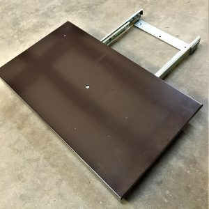 Brown Metal Media Platform Topside